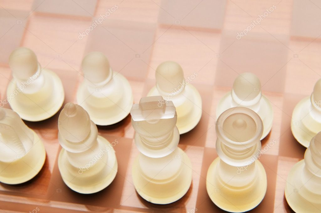 Set of chess figures on the playing board  Stock Photo #4418756