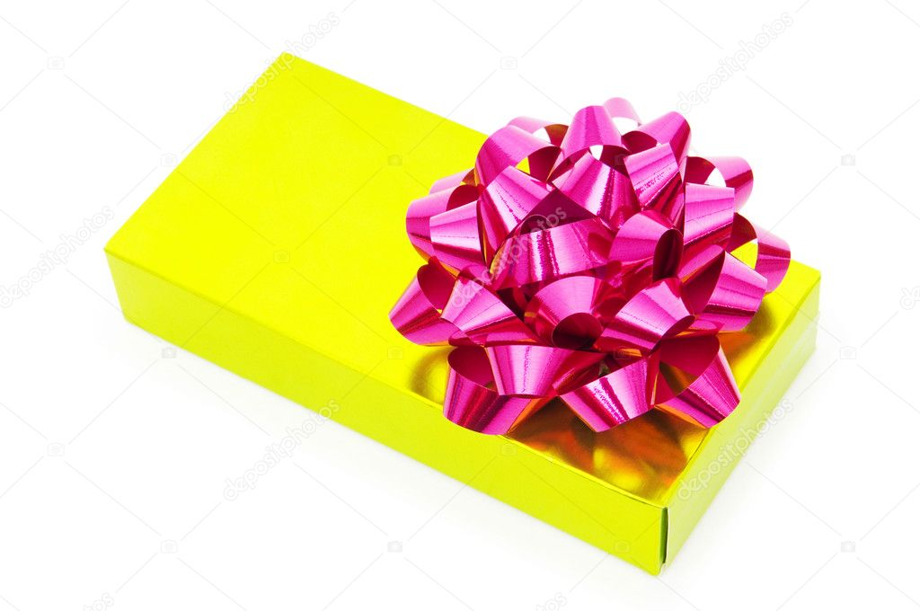Gift box isolated on the white background — Stock Photo #4419697