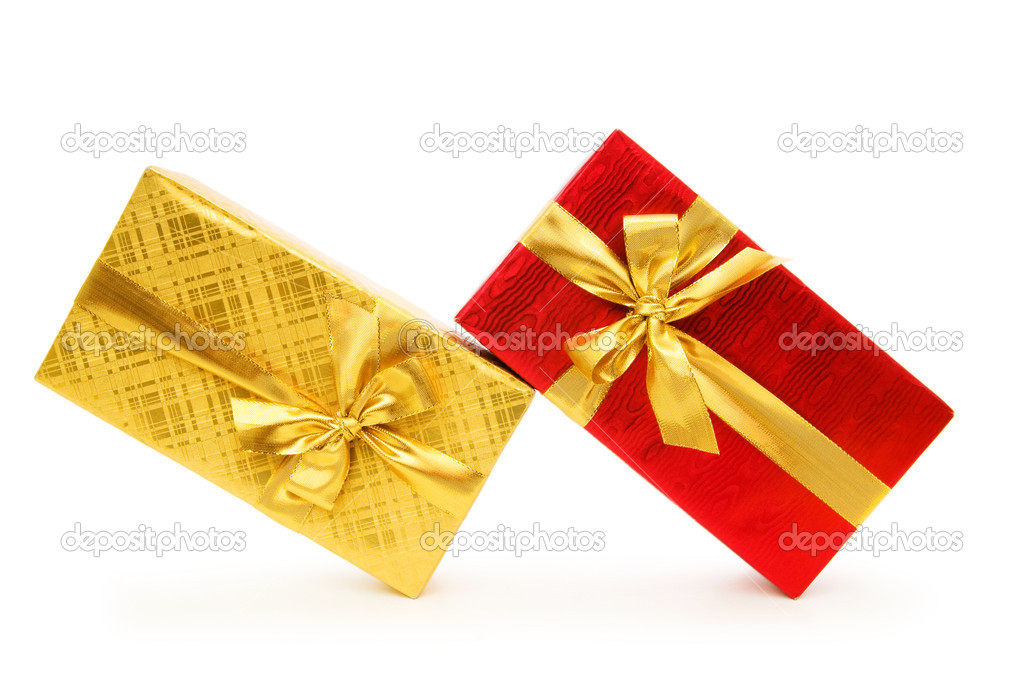 Gift box isolated on the white background — Stock Photo #4419778
