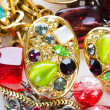 Jewellery arranged at the background - Foto de Stock