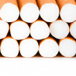 Smoking cigarettes isolated on the white background - Stock Photo