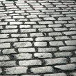 Cobbles on street - cbe used as background — Stock Photo #4424703