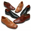 Stock Photo: Various male shoes isolated on the white - more footware in my portfolio
