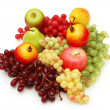 Selection of fruits isolated on the white — Foto Stock