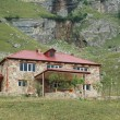 Two storey mansion in mountains - Suvar, Azerbaijan - Stock Photo