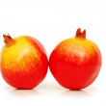 Two pomegranates isolated on white — Stock Photo #4428529