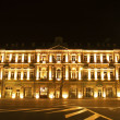 Building nicely lit with illumination - Baku, Azerbaijan - ストック写真