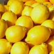 Lemons on display — Stock Photo