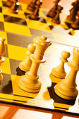 Set of chess figures on the board — Stock Photo