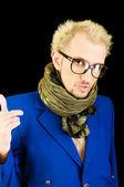 Portrait of a man with glasses — Foto de Stock