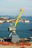 Industrial port with cranes in Baku, Azerbaijan — Stock Photo
