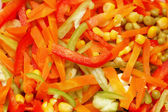 Close up of salad with fresh vegetables — Stock fotografie