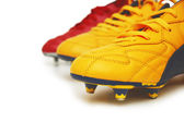 Football boots isolated on white background — Stock Photo