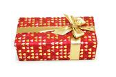Geschenkdoos met lint geïsoleerd op wit — Stockfoto