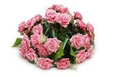 Kytice růží izolovaných na bílém — Stock fotografie