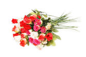 Bouquet of roses isolated on the white — Stock Photo