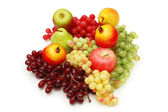 Selection of fruits isolated on the white — Stock Photo