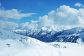Mountains under snow in winter - Georgia, Gudauri — Stock Photo