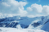 High mountaints under snow in winter - Gudauri, Georgia — Stock Photo