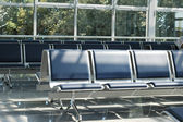 Empty seats at the airport — Стоковое фото