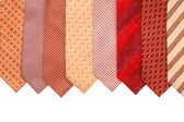Silk ties isolated on white — Stock Photo