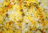 Seasoned rice with herbs and saffron — Stock Photo