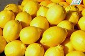Lemons on display — Stock Photo