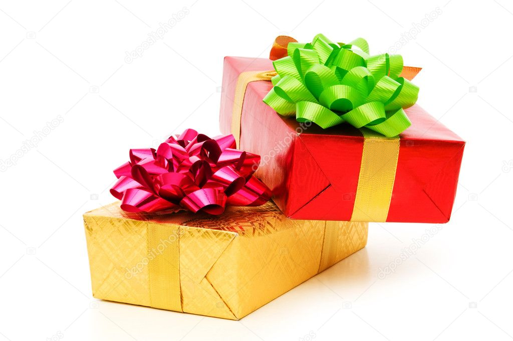 Gift box isolated on the white background — Stock Photo #4420102