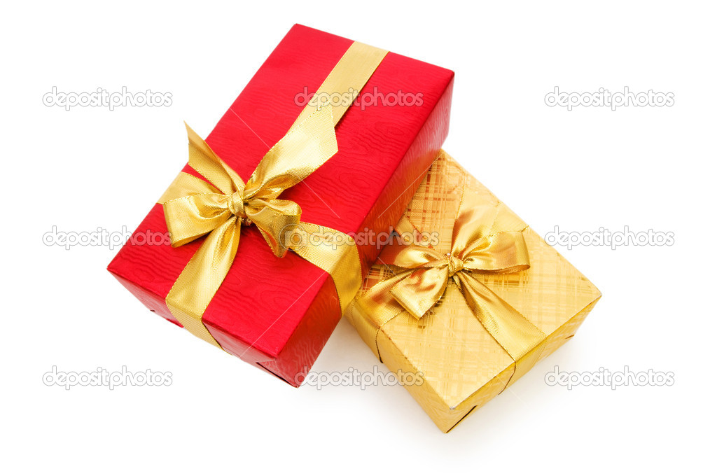 Gift box isolated on the white background — Stock Photo #4420107