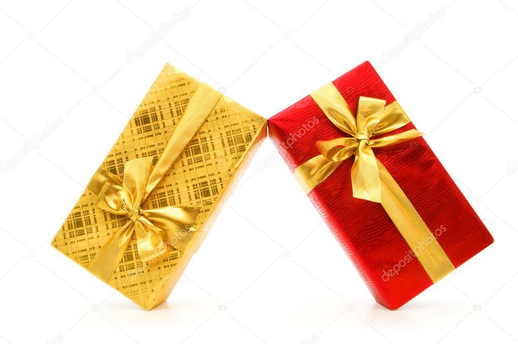 Gift box isolated on the white background — Stock Photo #4420114