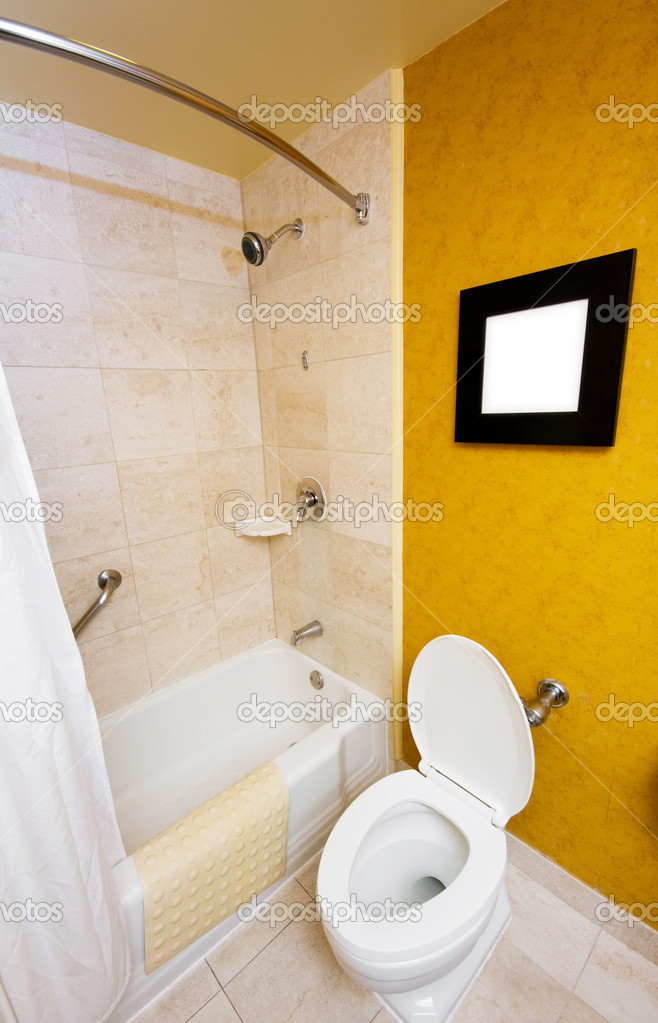 Toilet in the bathroom — Stock Photo #4420471