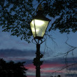 Lantern at sunset - Stock Photo