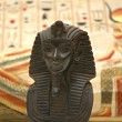 Figure of sphynx and background with elements of egyptian ancient history — 图库照片