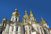 Church with golden spires — Stock Photo