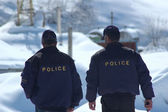 Police patrol in winter — Foto Stock