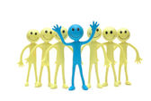 Stand out from the crowd - Figures of Smilies — Stock Photo