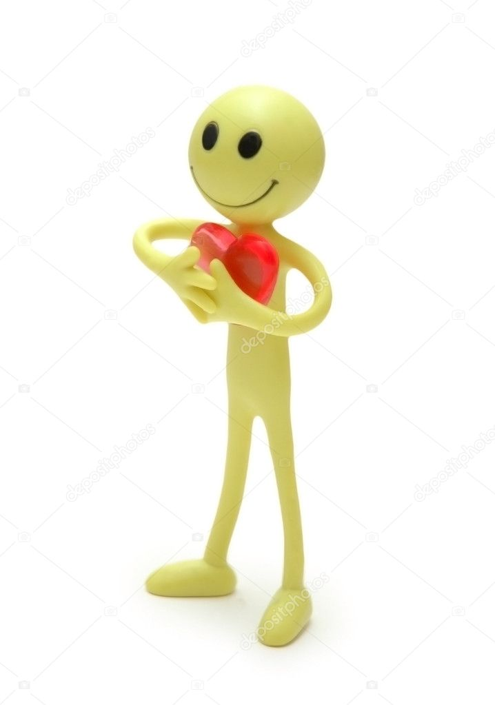 Smilie saying I love you — Stock Photo #4436885