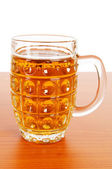 Beer glass isolated on the white background — Stock Photo