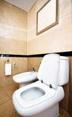 Toilette dans la salle de bain — Photo