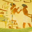 Egyptian concept with paintings on the wall — Zdjęcie stockowe #4452915