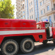 Firetruck in the city — Stock Photo