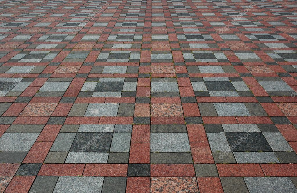 Colourful tiles on the floor — Stock Photo #4452995