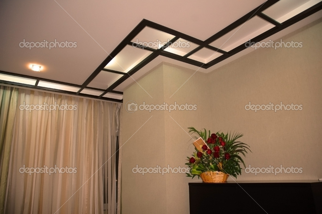 Ceiling in living room  Stock Photo #4453024