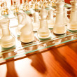 Set of chess figures on the board — Stock Photo #4461086
