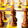 Set of chess figures on the playing board — Stock Photo #4461107