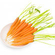 Fresh carrots isolated on the white — Stock Photo