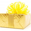 Gift box isolated on the white background — Stock Photo #4469928