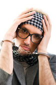 Man with glasses in studio shooting — Stock Photo