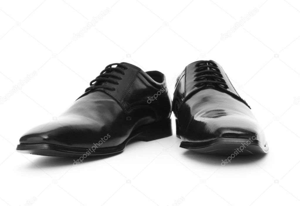 Male shoes isolated on the white background — Stock Photo #4460362
