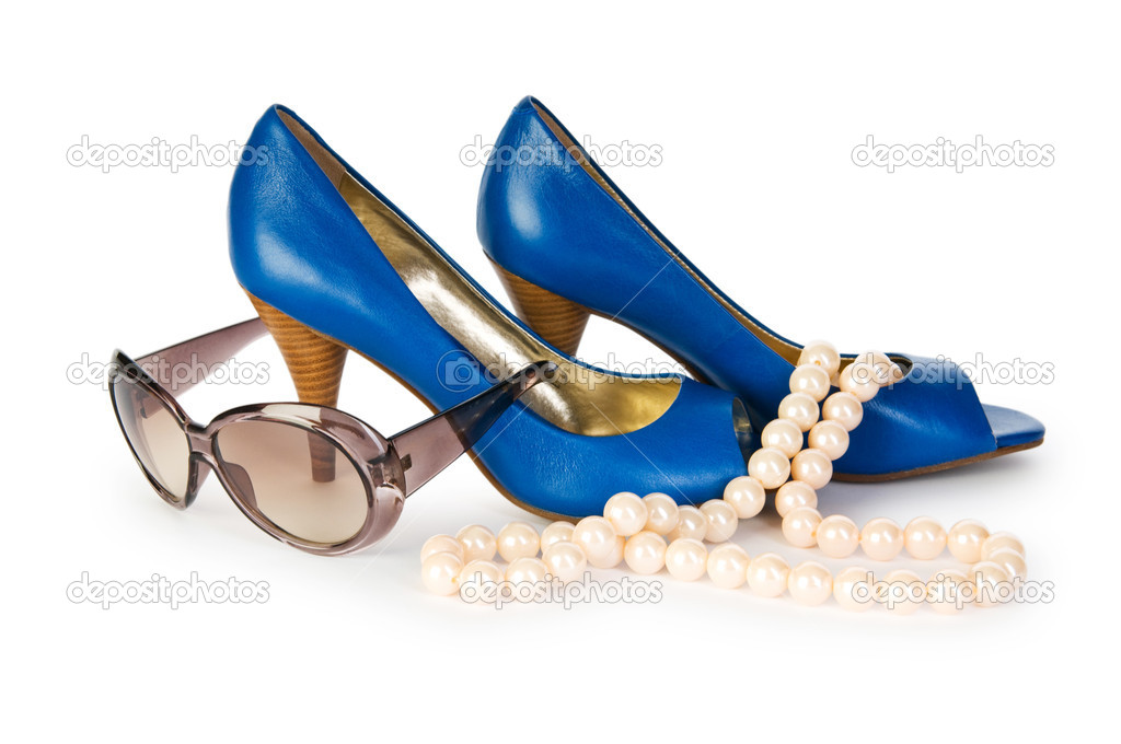 Woman accessories isolated on the white background — Stock Photo #4467186